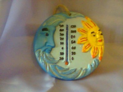termometro   decorato e dipinto  a mano  qualsiasi cosa contattare il venditore