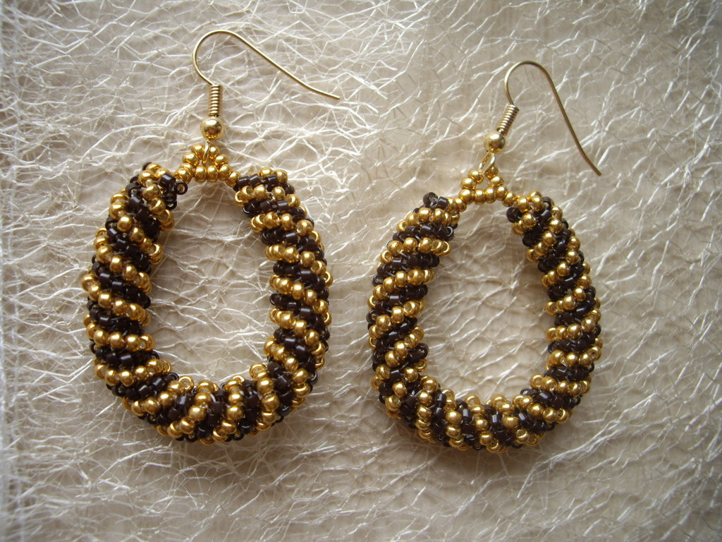 Gold chocolate earrings