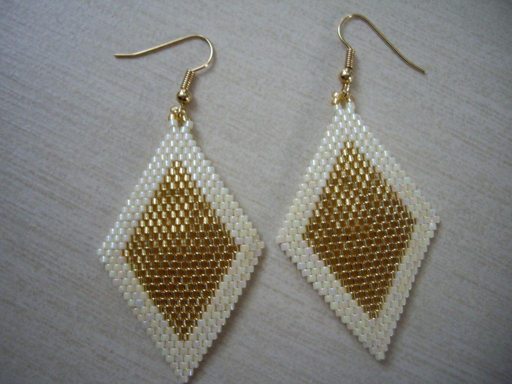 Gold Rombus Earrings