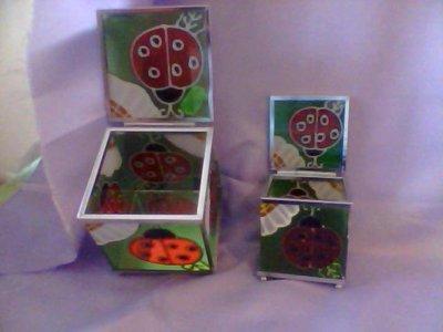 scatole in vetro  2 scatole  1 piccola e 1 grande  a  6.50 !!!!