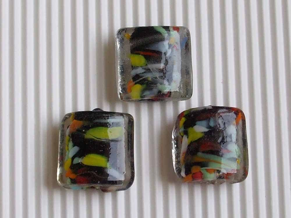 3 maxi perle vetro veneziano 20x20mm S.