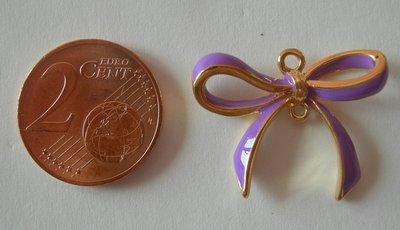 Ciondolo Fiocco Viola