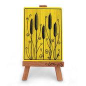 """ACEO """"Impronte 003, Tiphe gialle"""" - cartolina stampata da collezione"""