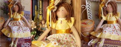 Bambola in stoffa Camelia