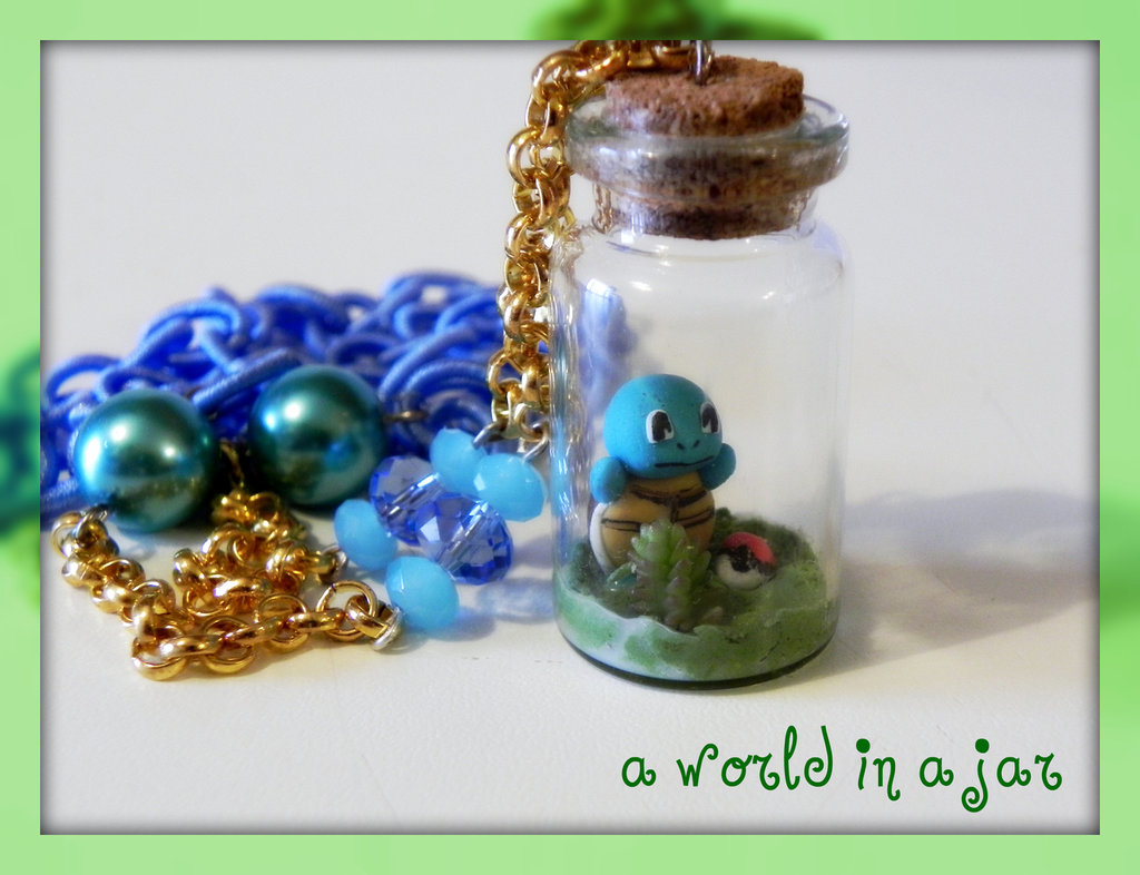 squirtle in a jar collana