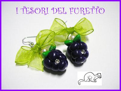 """Orecchini """"More"""" fimo cernit estate  idea regalo natale 2012"""