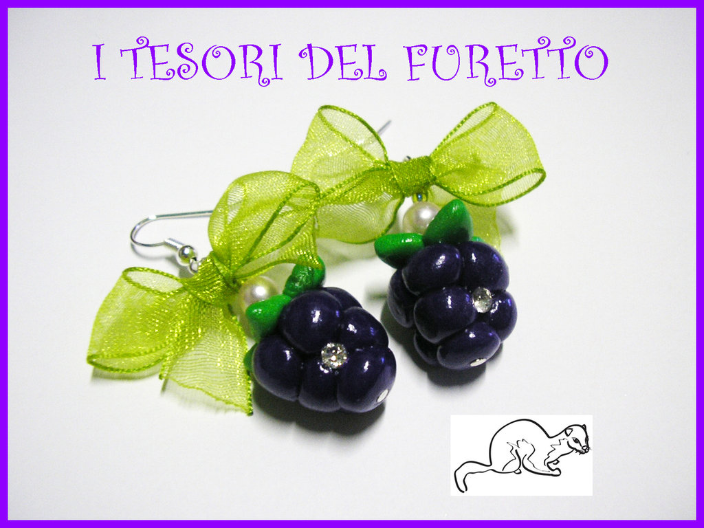 "Orecchini ""More"" fimo cernit estate  idea regalo natale 2012"