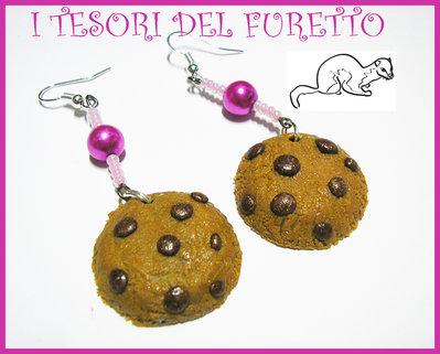 "Orecchini ""Cookies"" biscotti fimo cernit kawaii idea regalo natale 2012"