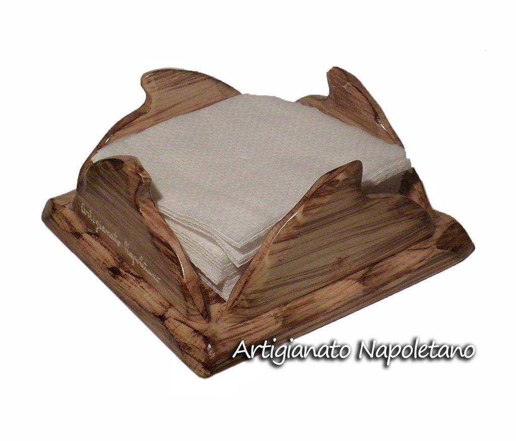 Porta tovaglioli in legno