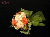 Bouquet rose di carta crespa