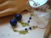Orecchini Blue & Gold