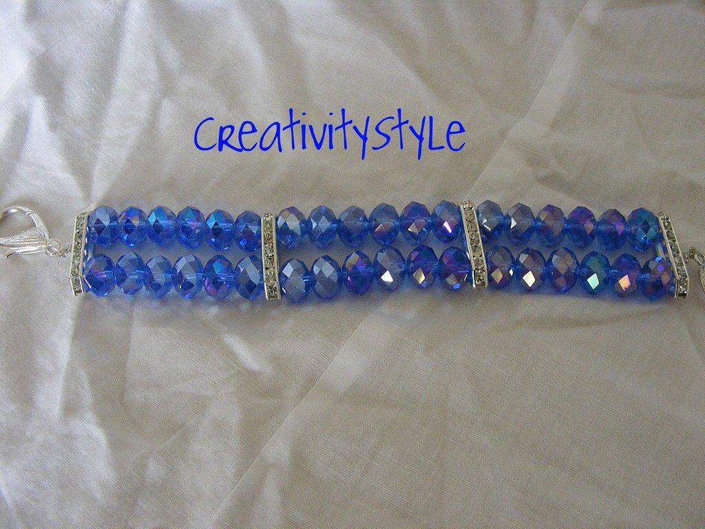 bracciale pietre di cristallo e strass