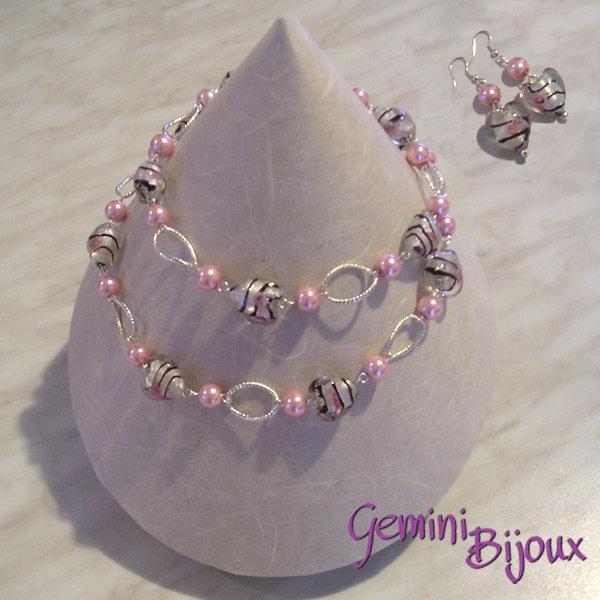 Collana cuori crystal rose