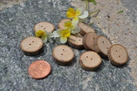 10 Bottoni in legno