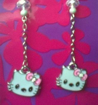 Orecchini Hello Kitty argento 925 e cristallo
