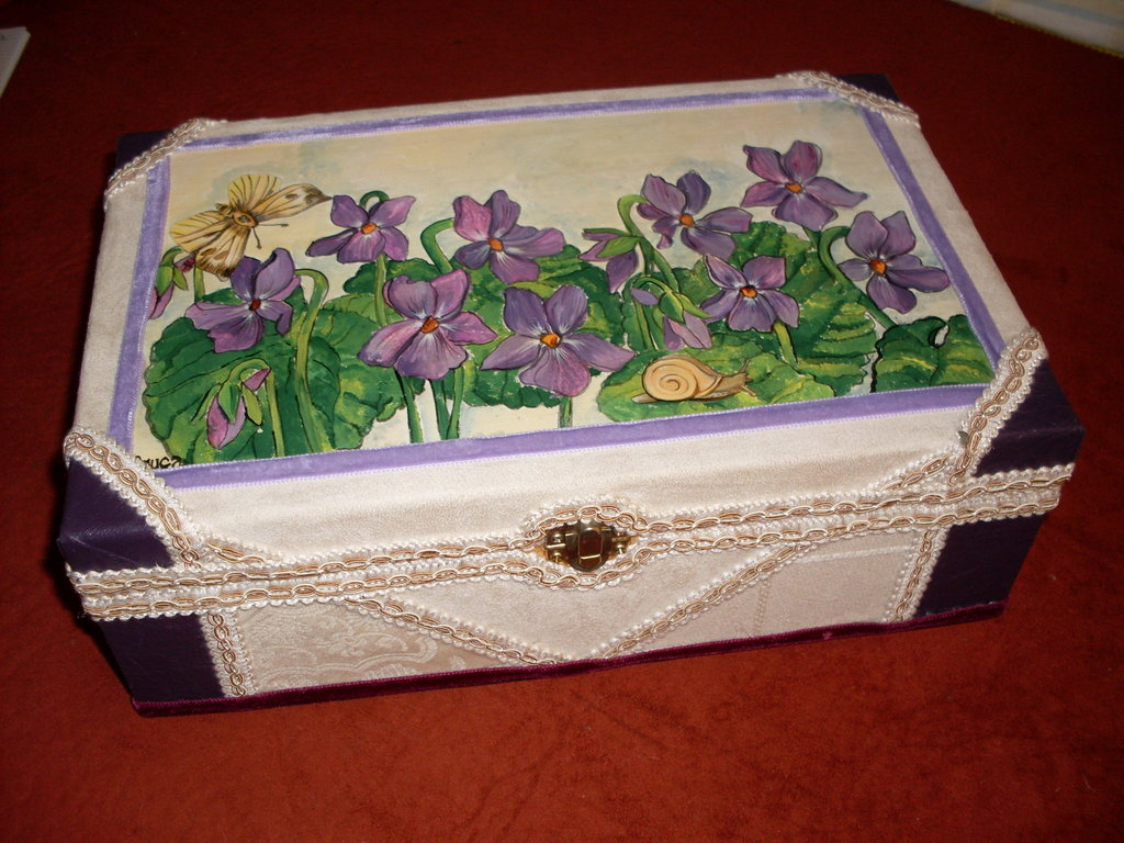 "Set Scatola+Diario mod.""LA COLLINAdelleVIOLE""-set box with diary ""The HILL  of the VIOLETS"""