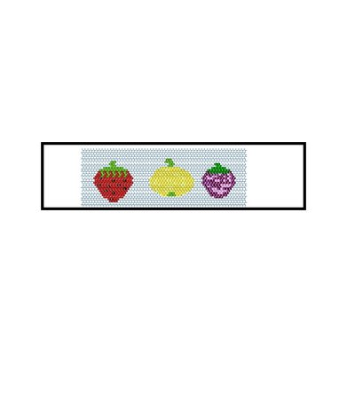 Schema Brick Stitch Frutta