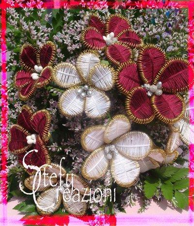 Fiori Moulinè per bouquet sposa