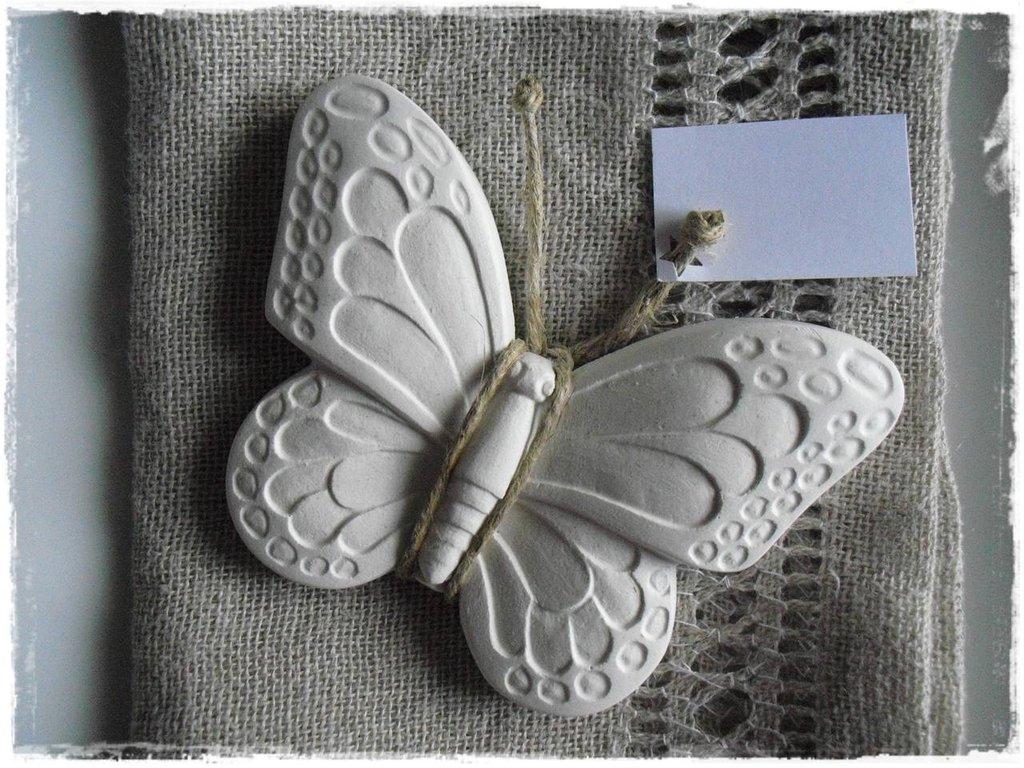 Farfalle segnaposto in gesso profumato
