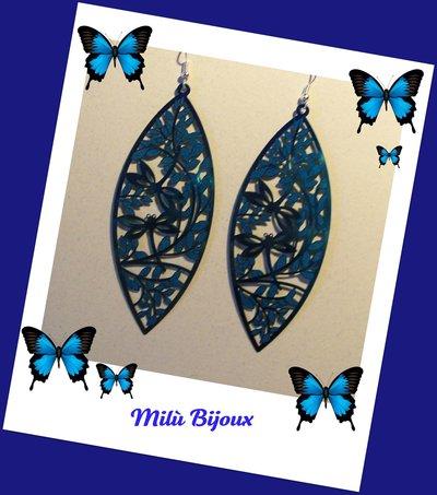 Filigrana blu ovale