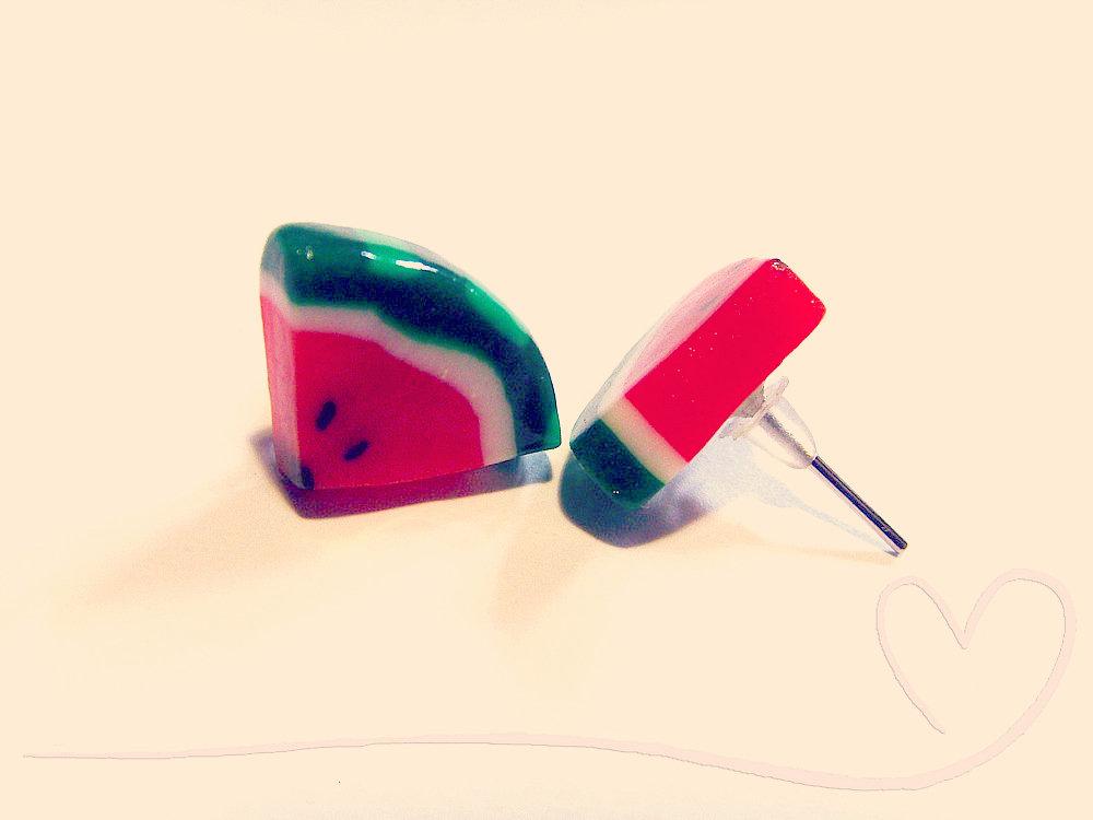 orecchini - Un pezzo di Anguria :)