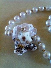 Collana perle e orsetta