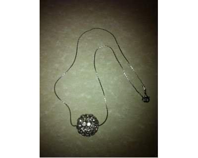 Collana argento e swarovski