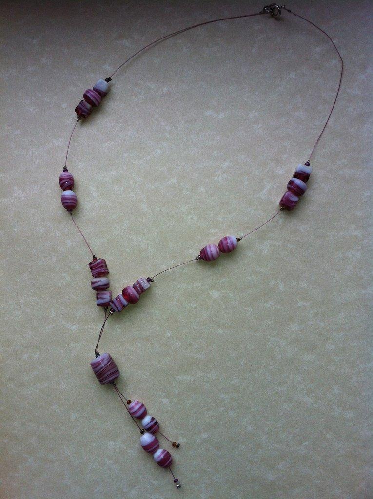 Collana pietre rosa