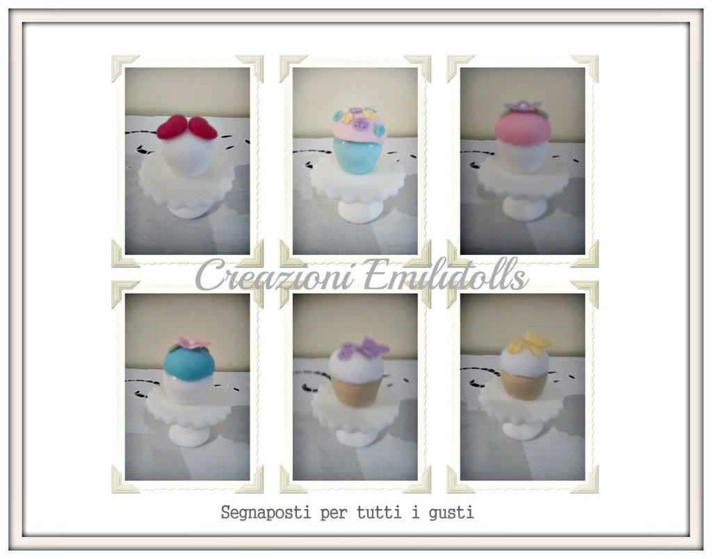 segnaposto economici mini cupcake
