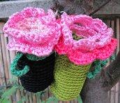 Porta Bon-Ton fioriti - rosa