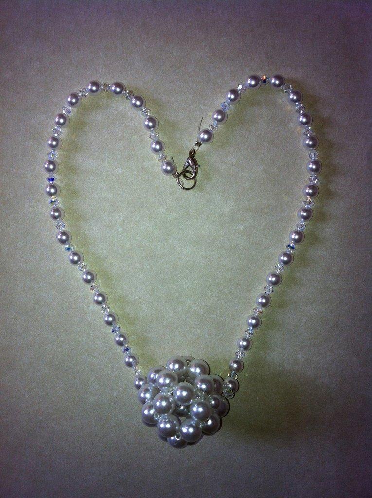 Collana perle e swarosvki