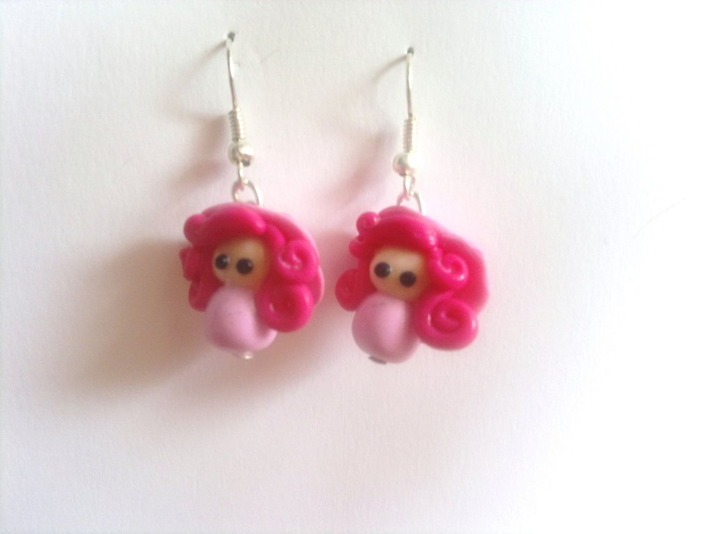 Orecchini bamboline rosa!