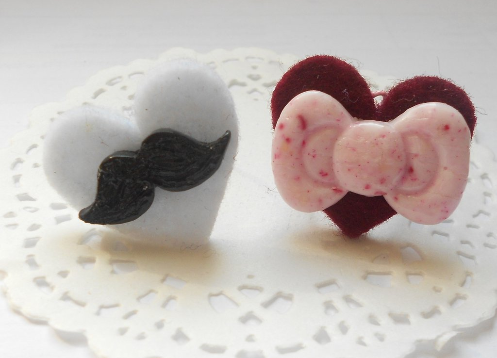 anello baffi e fiocco hello kitty