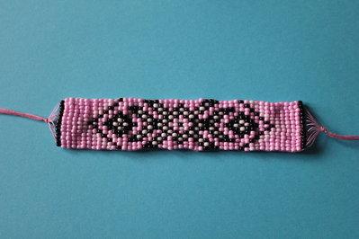 braccialetto perline indiane
