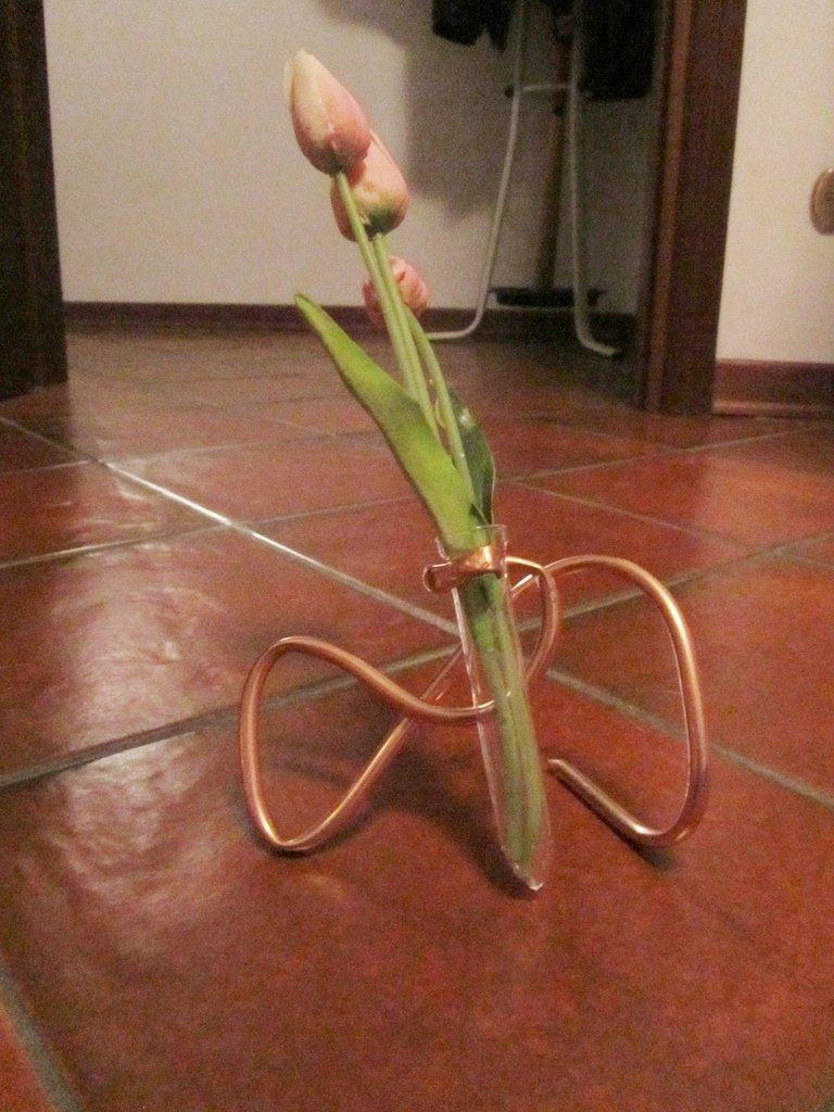 vaso porta fiori in rame - 4