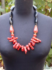 """Red coral mod. """"EARTH AND FIRE"""""""