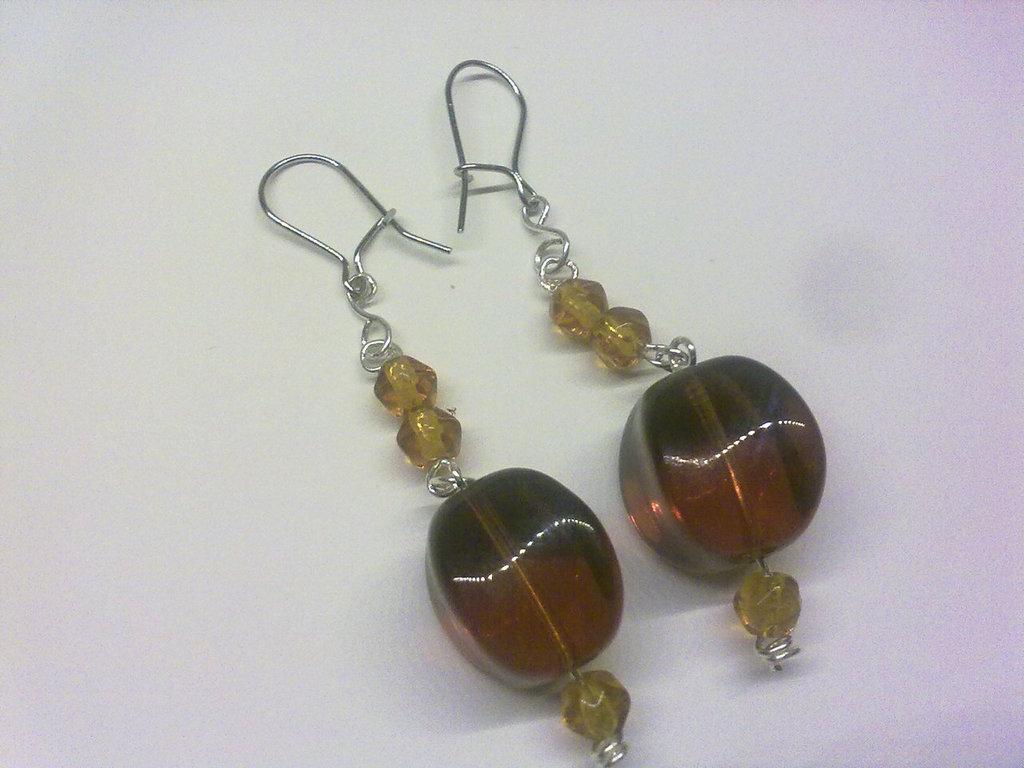 orecchini ambra