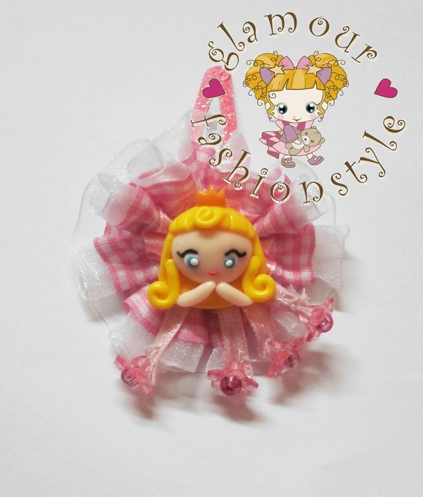 clip capelli hair aurora la bella addormentata nel bosco the sleepy beauty handmade