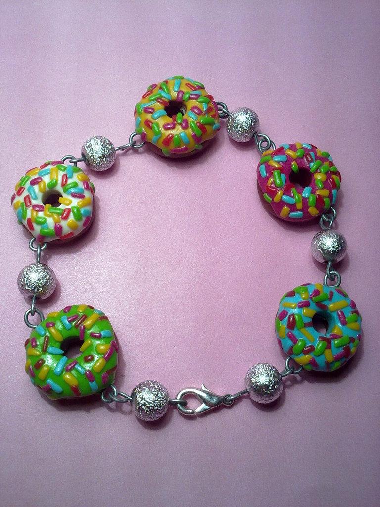 braccialetto con donuts golose