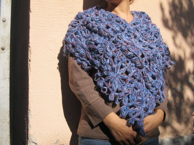 Poncho Blu