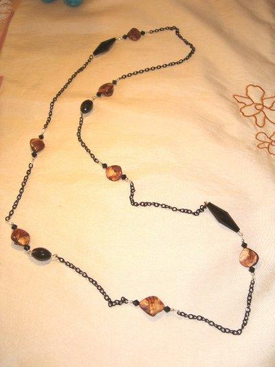 Collana black & madreperla
