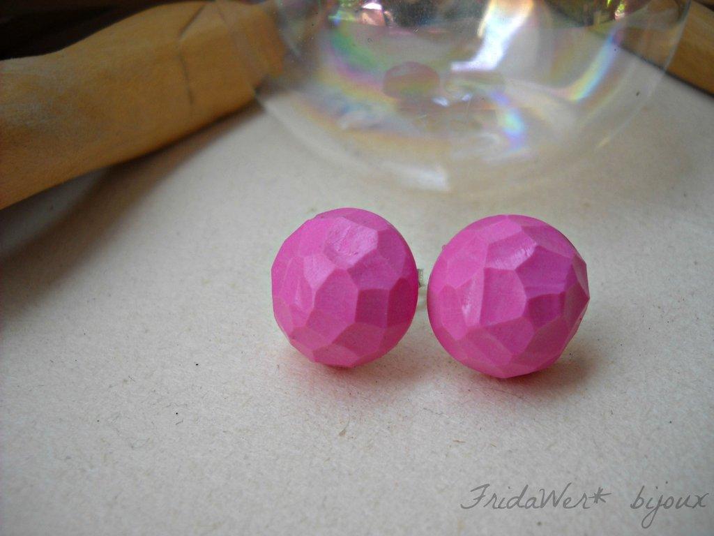 Orecchini Pois Soft Pink!