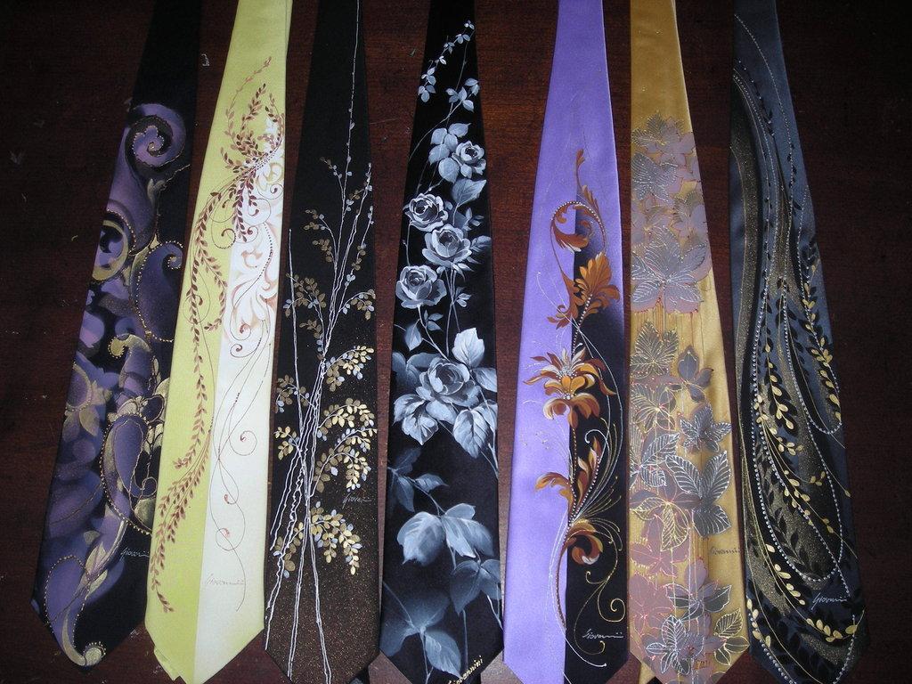 Hand painted ties