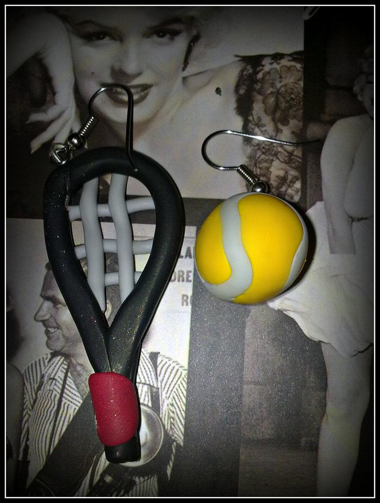 """Orecchini in fimo """" Tennis Sport """""""
