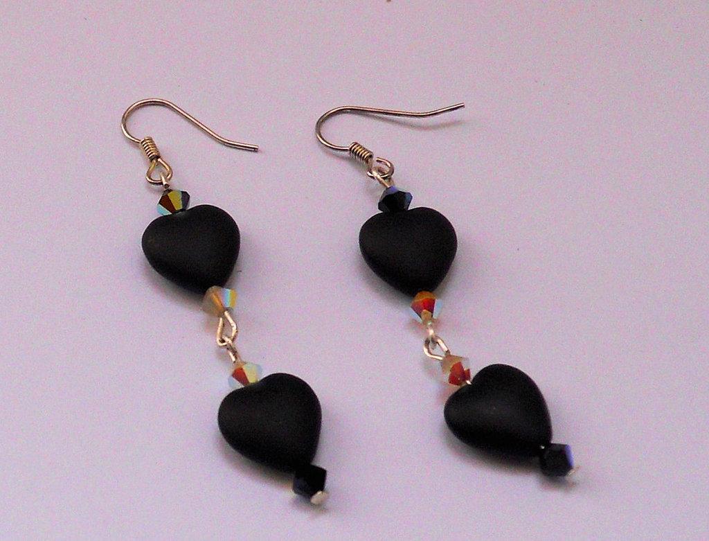 Orecchini Black Heart