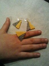 parure orecchini e anello