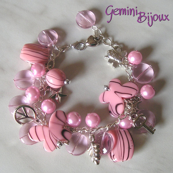 Bracciale rosa mix