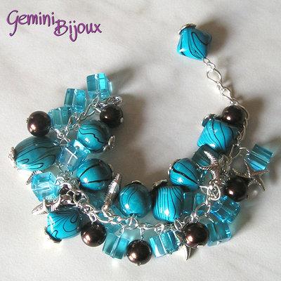 Bracciale azzurro mix
