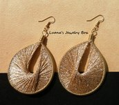 "Orecchini ""Sparkle"" Gold - Thread earrings"