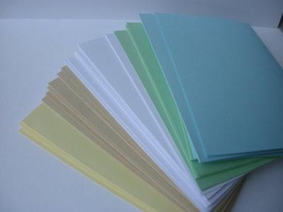 BASI BIGLIETTI AUGURI set 10 bianco beige azzurro verde giallo pastello